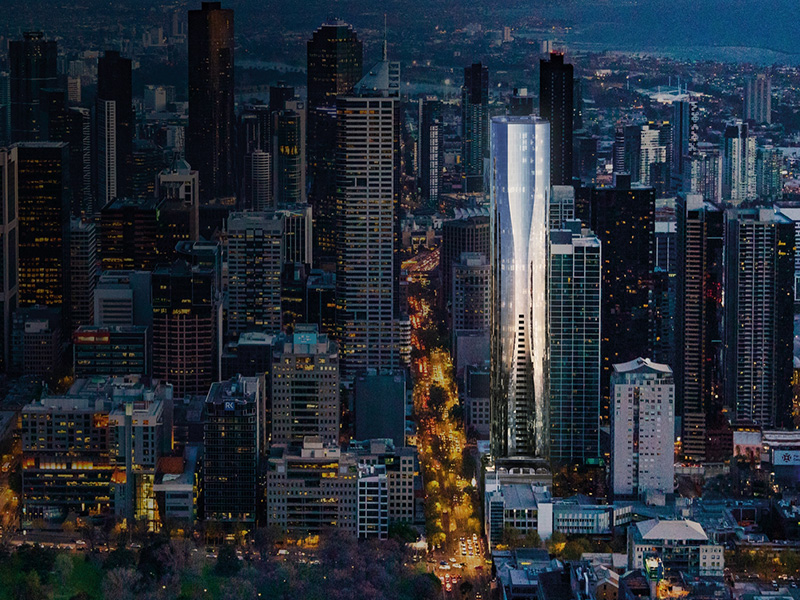 There will be luxury residences on the top ten levels of Aspire Melbourne.